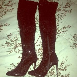 Shoes - Sequence Over Knee Hi-Heel Boots